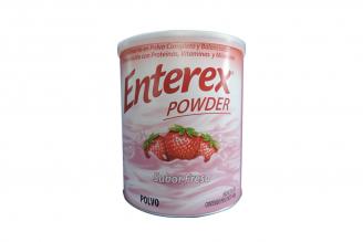 Enterex Powder Alimento En Polvo Sabor Fresa Lata Con 400 g