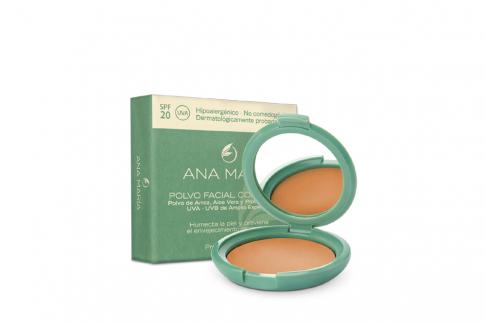 Polvo Facial Compacto Con Arroz Ana María Estuche Con 15 g - Tono No. 27 Cocoa