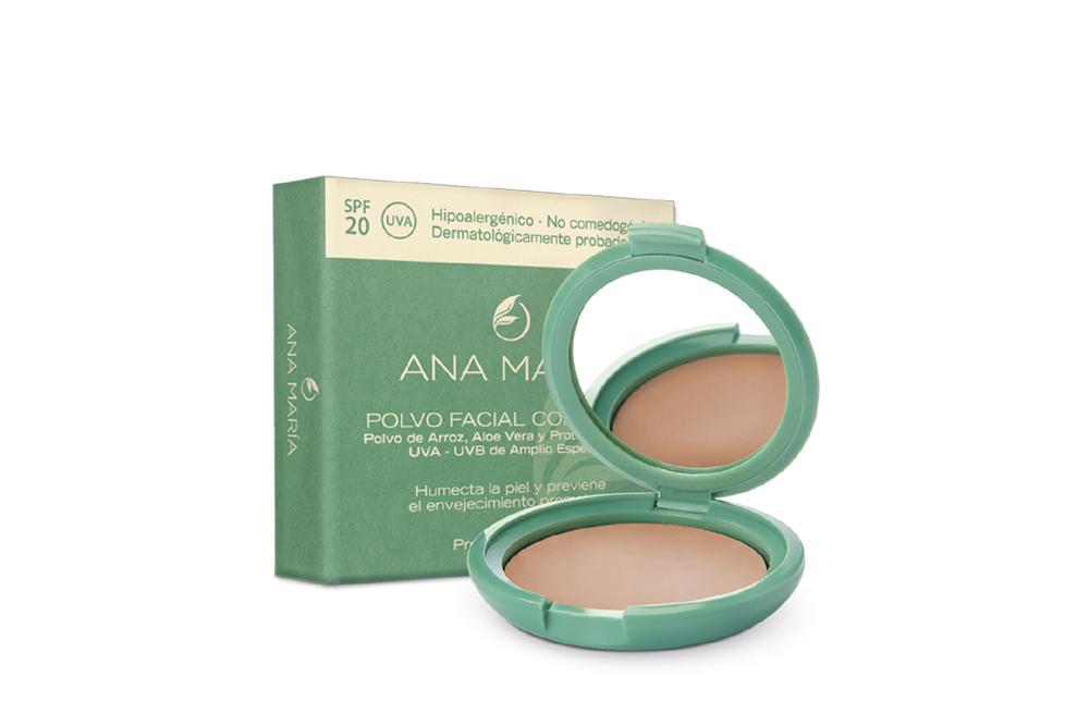 Polvo Facial Compacto Con Arroz Ana María Estuche Con 15 g - Tono No. 25 Moca