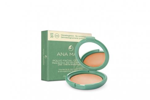 Polvo Facial Compacto Con Arroz Ana María Estuche Con 15 g - Tono No. 7 Avellana