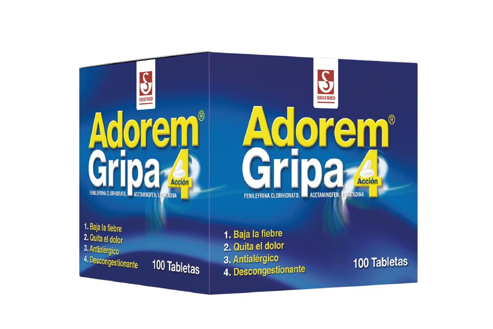 Adorem Gripa Caja Con 100 Tabletas