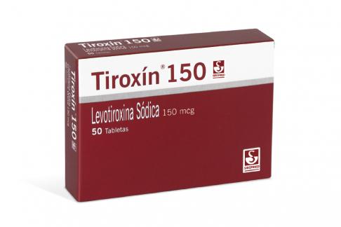 Tiroxín 150 mcg Caja Con 50 Tabletas Rx
