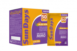 Bloqueador Sunday´s FPS 50 Aloe Caja Con 24 Sobres