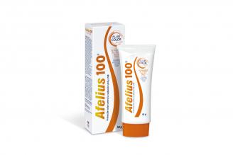 Protector Solar Afelius 100 Emulsión Fluid Color Caja Con Tubo Con 50 g