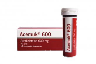 Acemuk 600 mg Caja Con 10 Comprimidos Efervescentes Rx