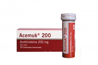 Acemuk 200 mg Caja Con 10 Comprimidos Efervescentes