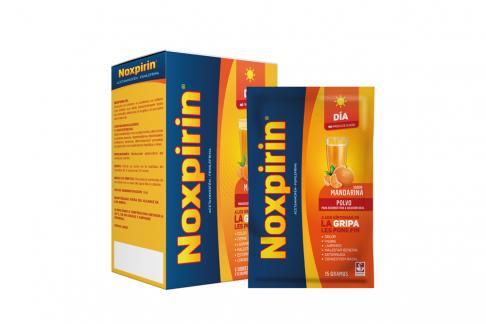 Noxpirin F Adultos Día Sabor Mandarina Caja Con 6 Sobres Con 15 g C/U