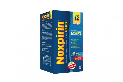 Noxpirin Plus 500 / 30 / 5 / 10 mg Caja Con 120 Cápsulas