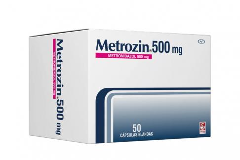 Metrozin 500 mg Caja Con 50 Cápsulas Blandas Rx