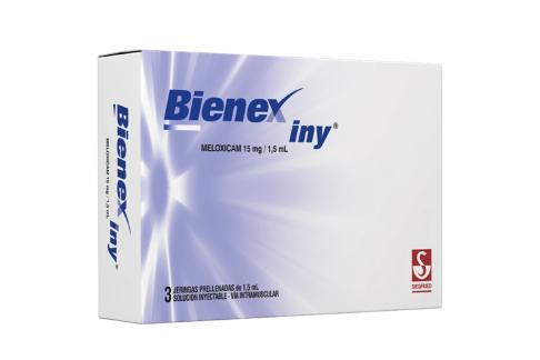 Bienex 15 mg / 1.5 mL Caja Con 3 Jeringas Prellenadas Rx