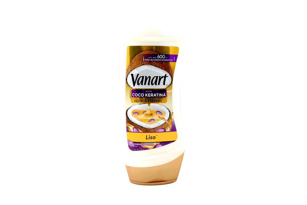 Acondicionador Vanart Liso Coco Keratina Frasco Con 600 mL