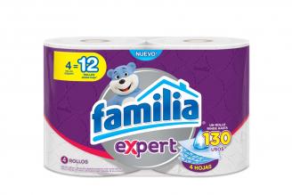 Papel Higiénico Familia Expert 4 Hojas Empaque Con 4 Rollos