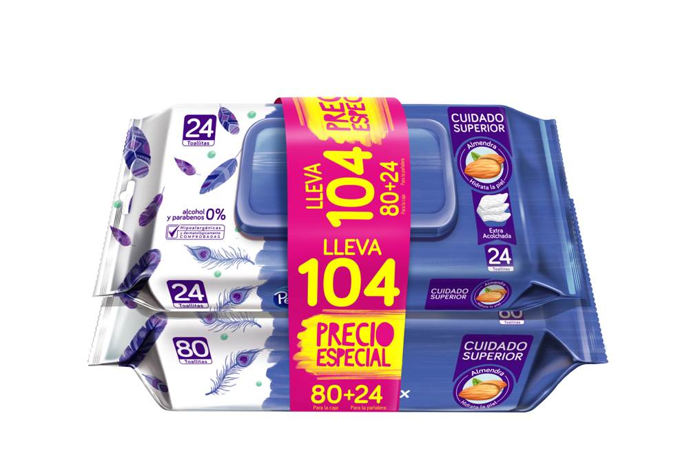 Pack Toallitas Pequeñin Empaque Con 80 Unidades + 24 Unidades - Precio Especial