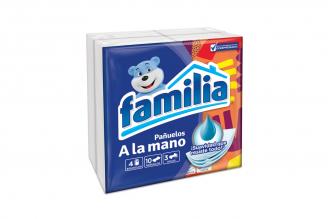 Pañuelos Familia A La Mano Paquete Con 4 Unidades Con 10 Pañuelos C/U
