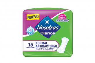 Protectores Diarios Nosotras Paquete Con 15 Unidades – Normal Antibacterial