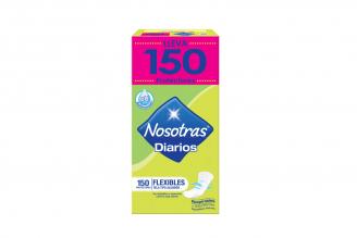 Protectores Nosotras Diarios Flexibles Tela Caja Con 150