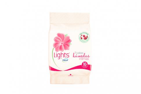 Toallas Húmedas Íntimas Tena Lights Paquete Con 16 Unidades