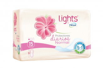 Protectores Light By Tena Empaque Con 15 Unidades