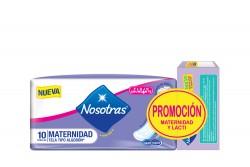 Toallas Nosotras Maternidad Empaque Con 10 Unidades
