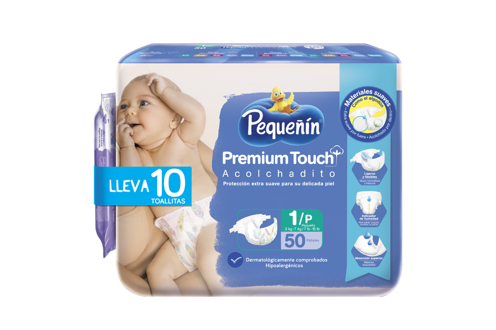 Etapa 1P Pañal Pequeñín Premium Touch Acostaditos Empaque Con 50 Unidades - Delicados