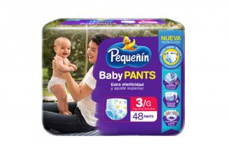 Etapa 3G Pequeñín Baby Pants Extra Elasticidad Empaque Con 48 Unidades