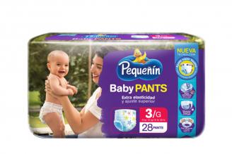 Pañal Pequeñín Baby Pants Etapa 3 Empaque Con 28 Unidades