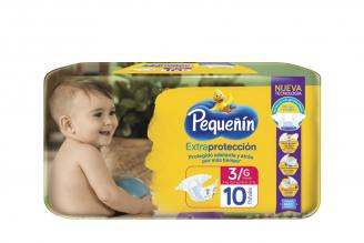 Etapa 3 G Pañal Pequeñín Extra Protección Paca Con 10 Unidades