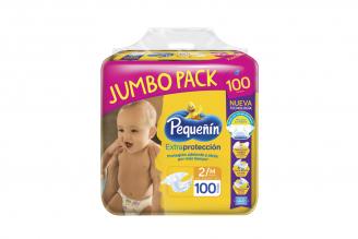 Etapa 2 M Pañal Pequeñín Extraprotección Empaque Con 100 Unidades - Jumbopack