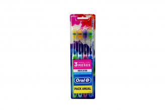 Cepillo Dental Oral B Indicator Pack Manual Empaque Con 4 Unidades