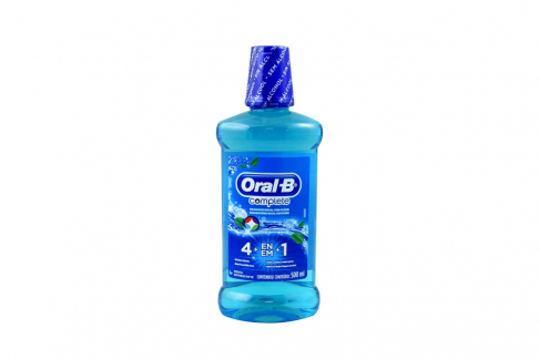 Enjuague Bucal Oral B Sabor Menta Refrescante Frasco Con 500 mL