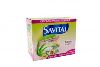 Crema Para Peinar Savital Con Multivitaminas Caja Con 20 Sobres Con 23 mL C/U