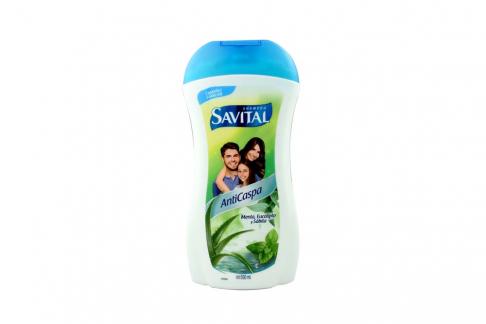 Shampoo Savital Anticaspa Frasco Con 550 mL – Tamaño Familiar