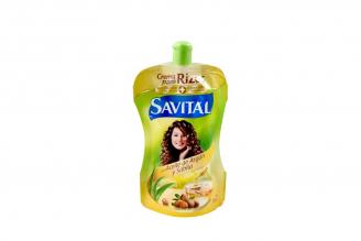 Crema Para Rizos Savital Con Aceite De Argán Frasco Con 90 mL