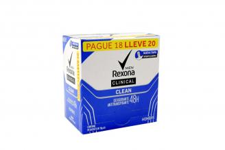 Antitranspirante Rexona Men Clinical Clean Crema Caja Con 20 Sobres Con 10 g C/U