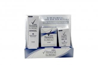 Antitranspirante Rexona Men Clinical Clean Caja Con 1 Kit