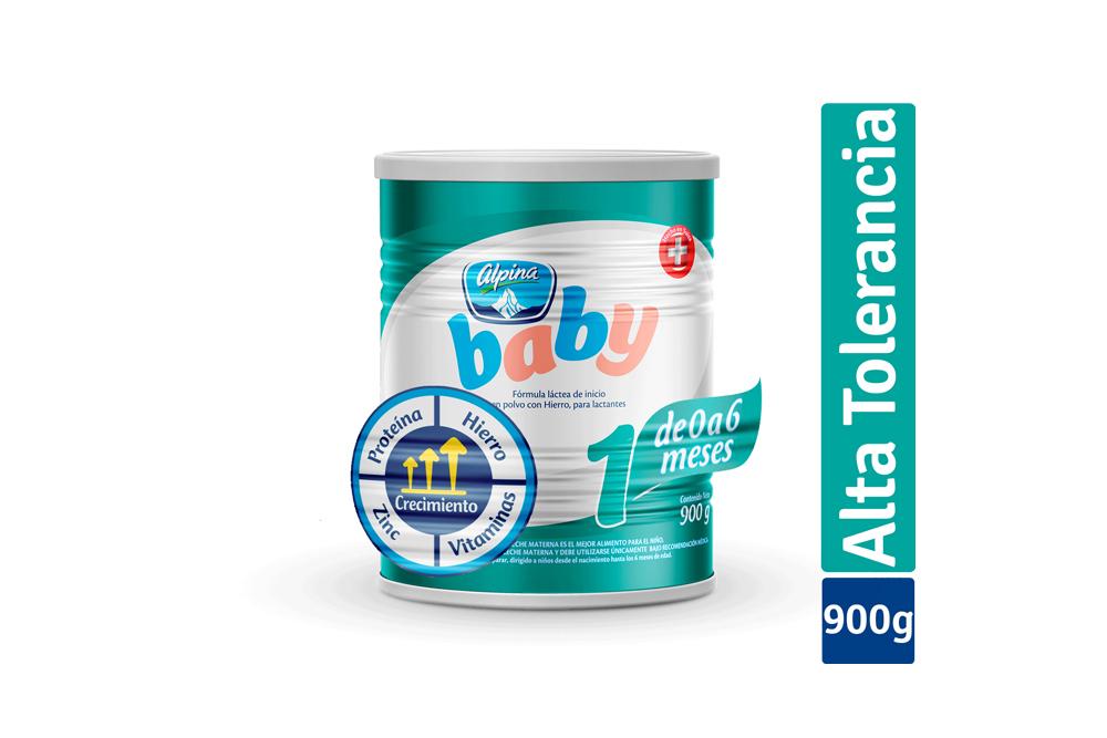 Formula Láctea En Polvo Alpina Baby 1 Tarro Con 900 g