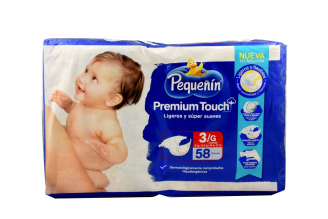 Etapa 3G Pañal Pequeñín Premium Touch Empaque Con 58 Unidades - Ligeros