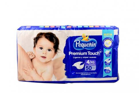 Etapa 4XG Pañal Pequeñín Premium Touch Empaque Con 50 Unidades - Súper Suaves