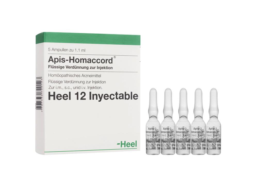Apis-Homaccord Caja Con 5 Ampollas Con 1,1 mL Rx