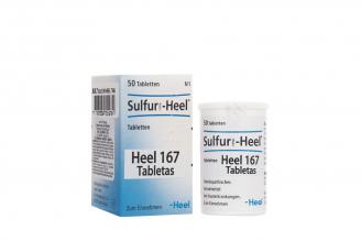 Sulfur Heel 167 Frasco Con 50 Tabletas Rx