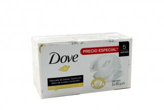 Jabón Dove Caja Con 5 Jabones Con 90 g C/U