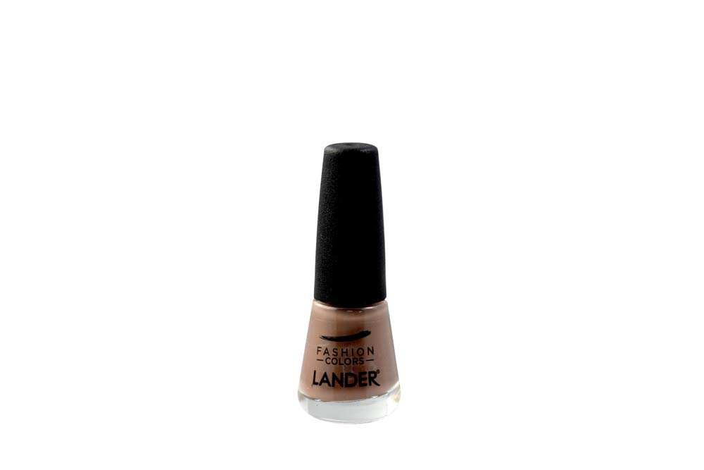 Esmalte Cremoso Fashion Colors Lander Frasco Con 7 mL - Referencia 53C Tono Café Claro