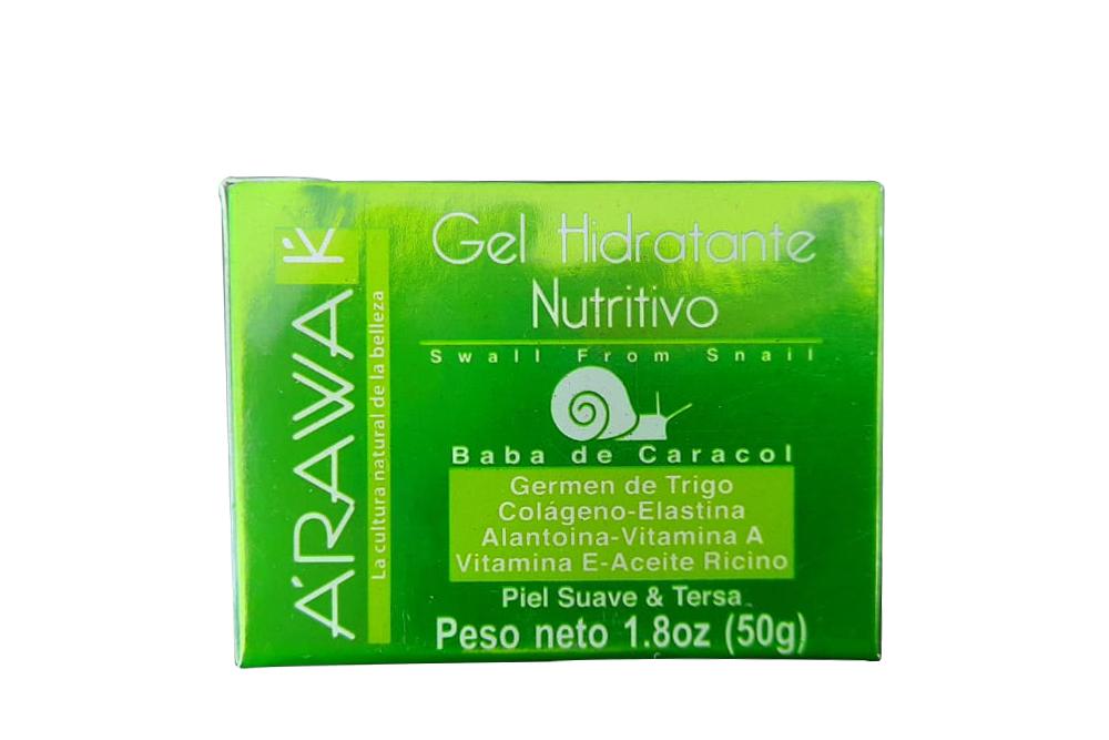 Arawak Gel Hidratante Nutritivo Baba De Caracol Caja Con Frasco Con 50 g