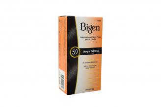 Bigen Tinte Permanente En Polvo Caja Con Frasco Con 6 g – Color 59 Negro Oriental