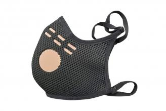 Tapabocas Copper Mask Antifluído Negro Talla Única Bolsa Por Unidad