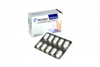 Acizan 1000 mg Caja Con 30 Tabletas Recubiertas Rx