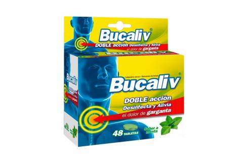 Bucaliv Caja Con 48 Tabletas – Desinfecta Garganta