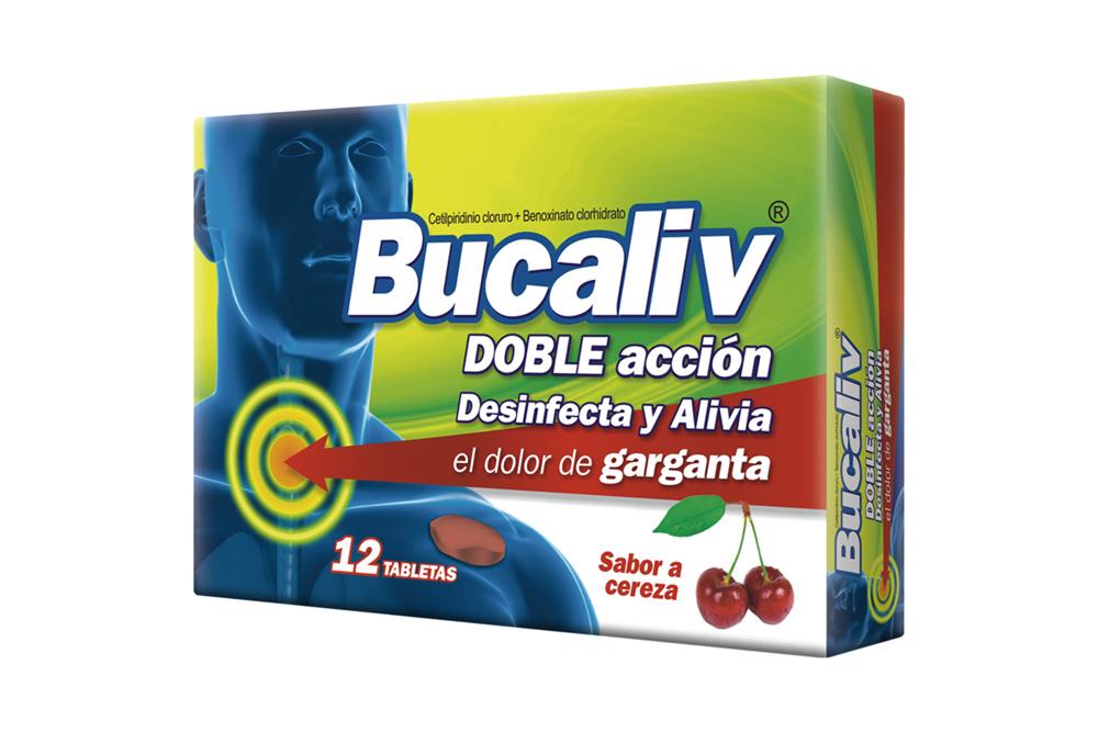 Bucaliv Caja Con 12 Tabletas Masticables – Sabor Cereza