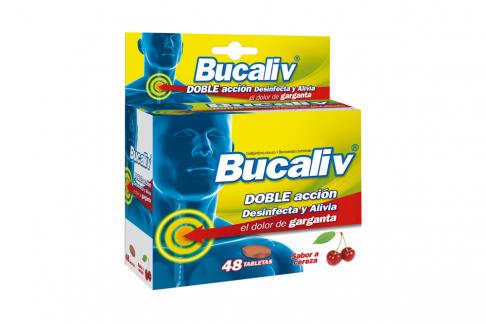 Bucaliv Caja Con 48 Tabletas – Dolor De Garganta