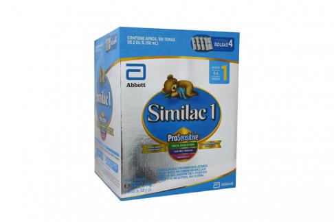 Similac 1 ProSensitive Caja Con 4 Bolsas Con 350 g C/U